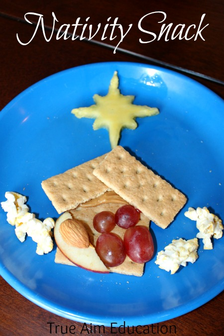nativity christmas snack