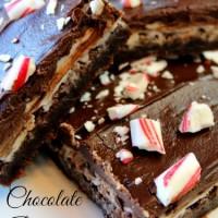 Chocolate Peppermint Brownie Bars