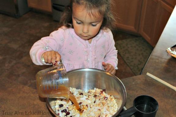 sweetening homemade granola
