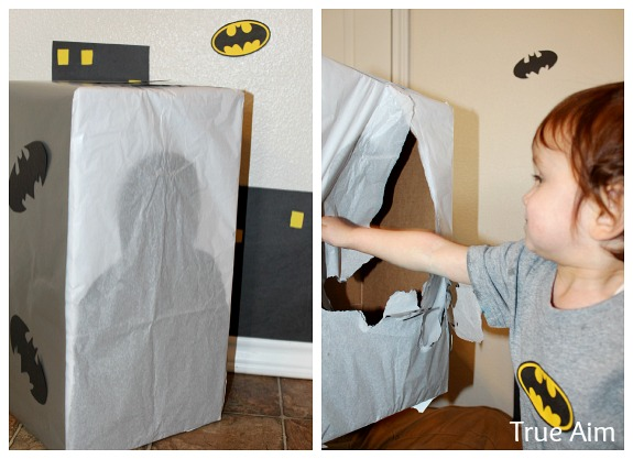 batman birthday punch box game