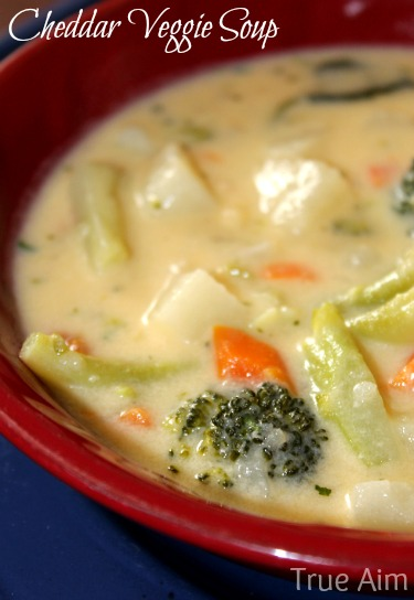 Kid friendly cheddar veggie soup recipe true aim kid friendly cheddar veggie soup recipe forumfinder