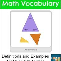 Elementary Math Vocabulary