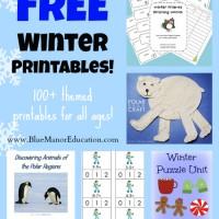 Free Homeschool Printables: Winter Themed