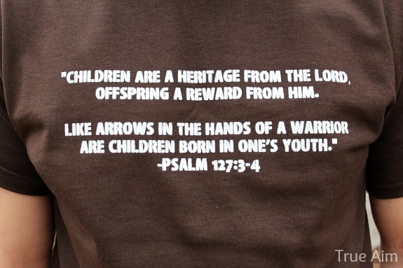 psalm 127 personalized t-shirt