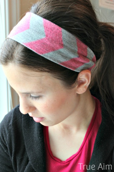 DIY chevron neon headband