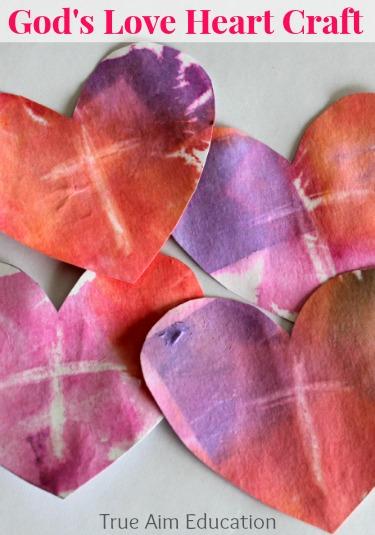 God's Love heart art