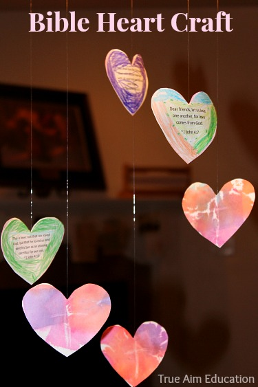 bible heart craft memory verses