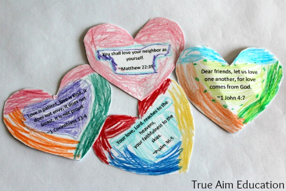bible heart craft