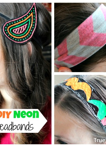 diy neon headbands