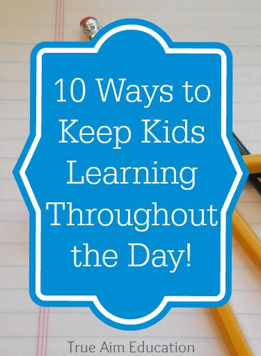 Love these ideas on how to keep my kids learning even after they leave their desk!