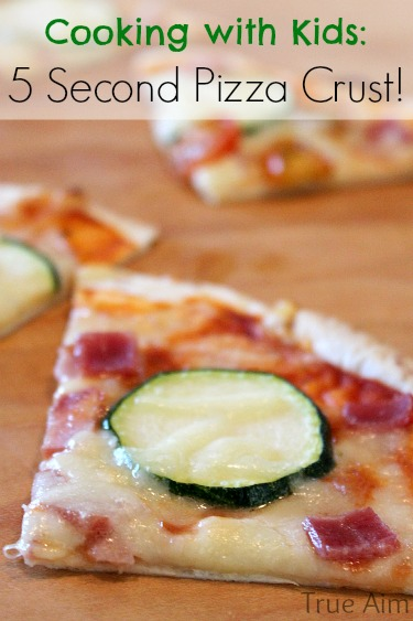 Make pizza in minutes with this 5 Second Pizza Crust!