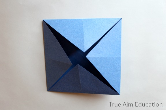 fold a paper fortune teller