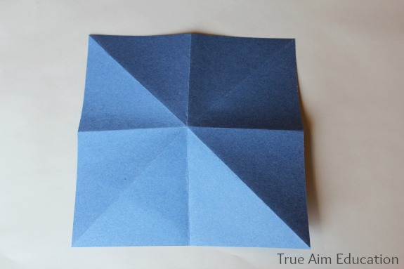 folding a paper fortune teller