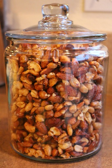 homemade honey roasted mixed nuts