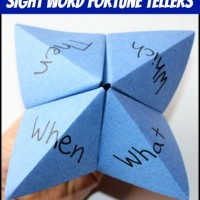 Reading Activity: Sight Word Fortune Tellers