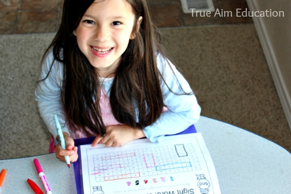 sight word word search printable