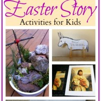 Easter Story Activities for Kids and Mom's Library #90