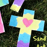 Easy Sand Art Cross Craft