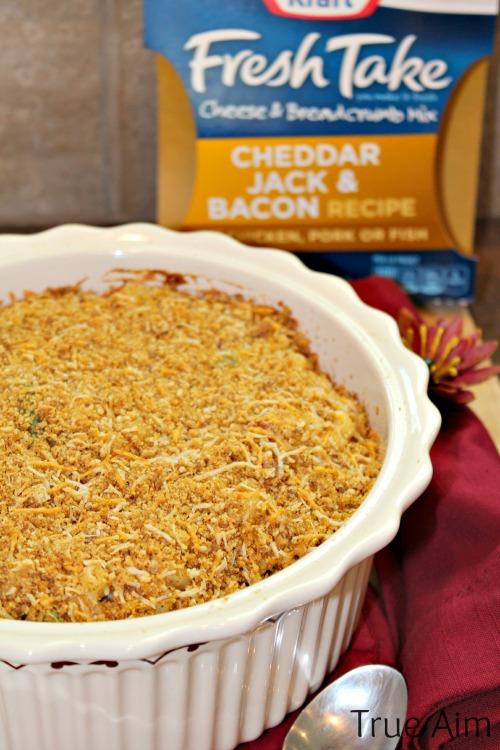 baked macaroni casserole crispy topping #freshtake #shop