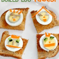 Healthy Snacks for Kids: Hard Boiled Egg Faces