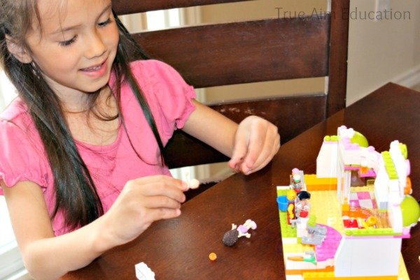 building lego friends set