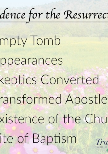 evidence for the resurrection, EASTER acronym