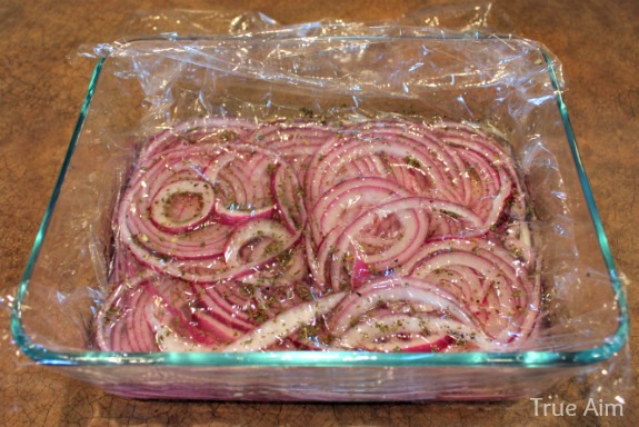 pickled onions covered