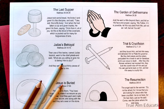 Easter Resurrection Story Cards Free Printable