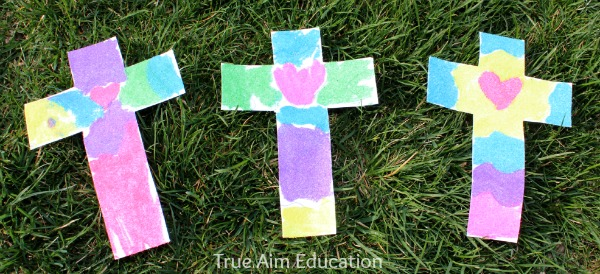sand art cross craft