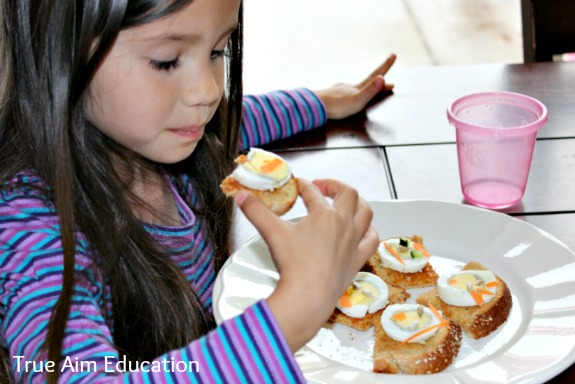 snack for kids with boiled eggs