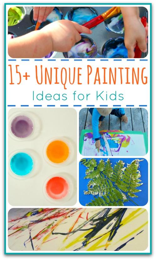 15 unique painting ideas for kids true aim for Unique canvas ideas