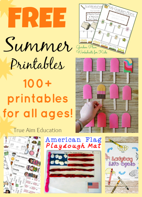 Summer printables to keep kids busy