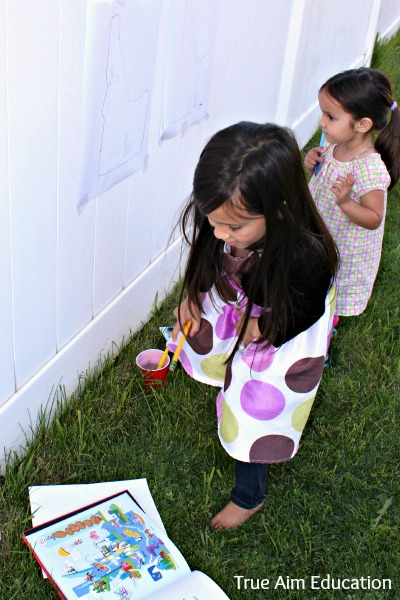 geography painting activity