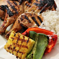 Ad Grilled Cornish Game Hens with Teriyaki Chicken Marinade #Grill4Flavor