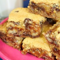 TWIX Chocolate Chip Cookie Bars #EatMoreBites