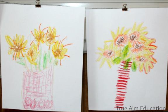 van gogh sunflower for children