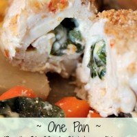 Simple Dinners: One Pan Basil Stuffed Chicken #RollIntoSavings