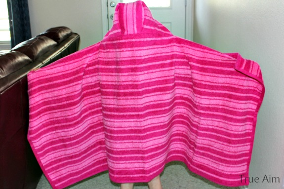 diy full size hooded towel