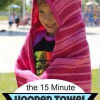 15 Minute DIY Hooded Towels