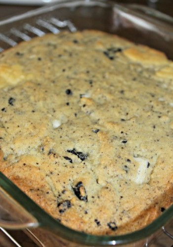 cookies and cream bars in glass pan