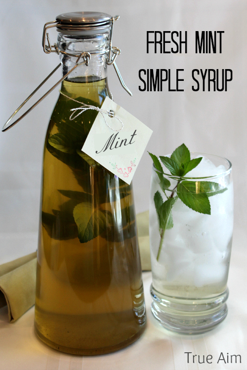 fresh mint simple syrup for recipes and drinks