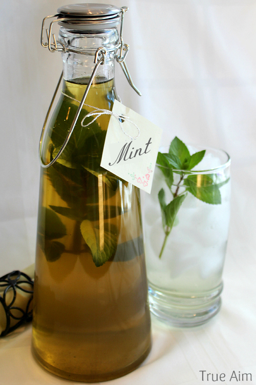 fresh mint simple syrup