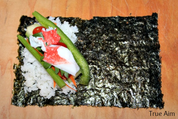 Japanese food for kids: sushi hand roll