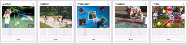 weekly planner pinterest