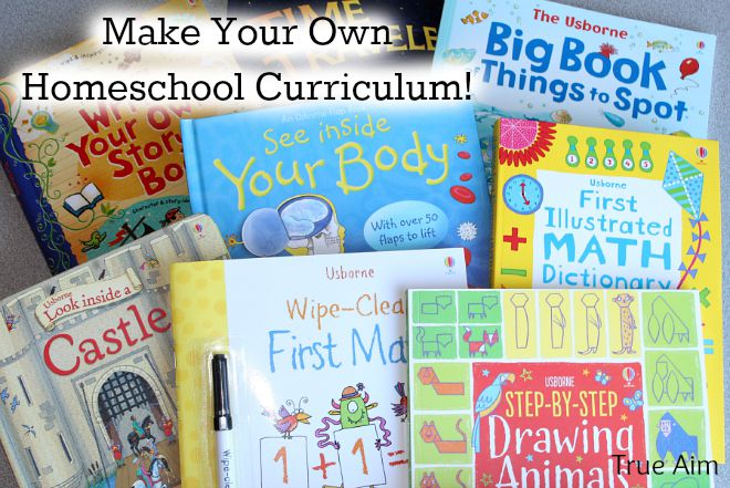 make your own homeschool curriculum with usborne books true aim