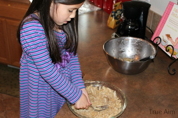 cooking quiche with kids