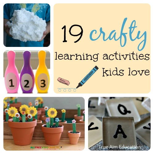 19 Crafty Learning Activities Kids Love True Aim