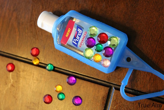 diy decorated sanitizer