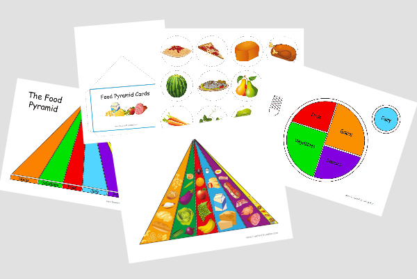 Food Pyramid Printable File Folder Game