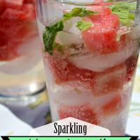 Watermelon Mint Cooler with Sparkling Water